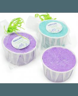Tarrinas de papel para bombas de baño DIY