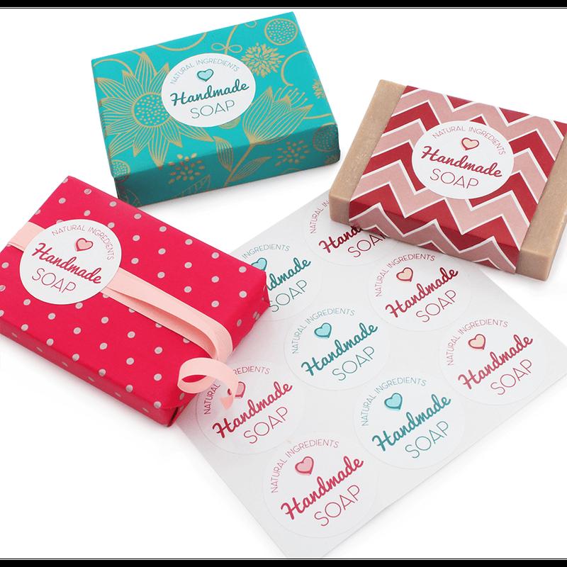 Adesivos Handmade Soap Natural Ingredients