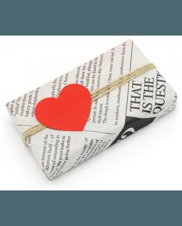 Etiquetas Coração Kraft para packaging