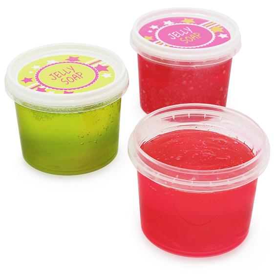 Kit como hacer jabon de gelatina. Materiales e instrucciones