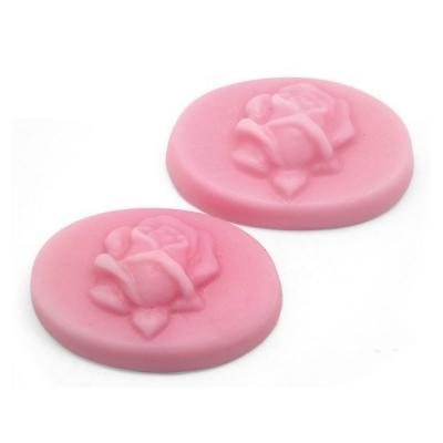 Molde pastillas ovaladas con rosita para hacer jabon