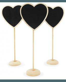 Cartáz Quadro Negro para preços, Coração.