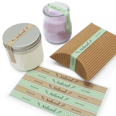 Adesivos para decorar velas e recipientes