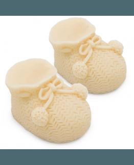 Molde patucos de bebe
