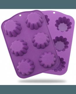 Molde de silicona 6 bases de cupcake