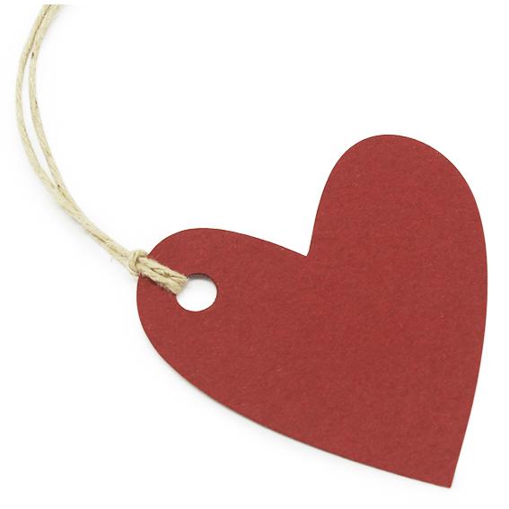 Etiquetas para regalo corazones