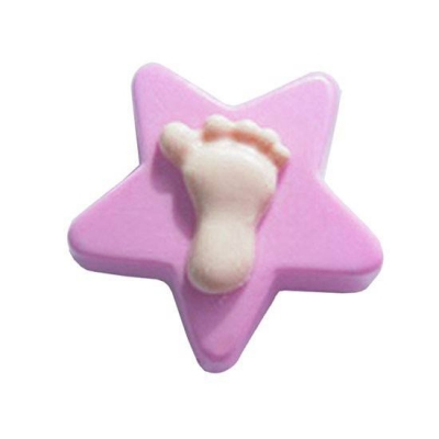 Molde silicona estrela com pe