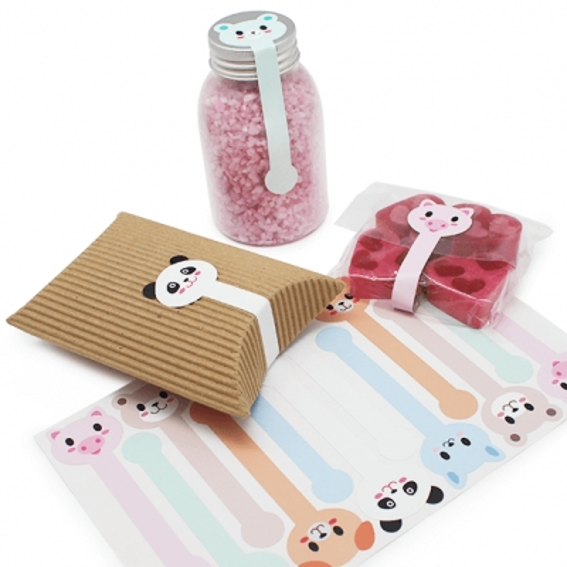 Pegatinas cinta infantil animalitos