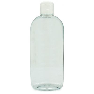 frasco pet oval 250ml tampa flip-top branco