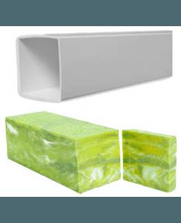 Molde Tubular quadrado plástico para fazer sabonetes 6,5x6,5x10 cm..