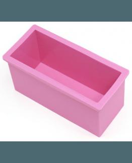 Molde retangular de silicone para fazer sabonete