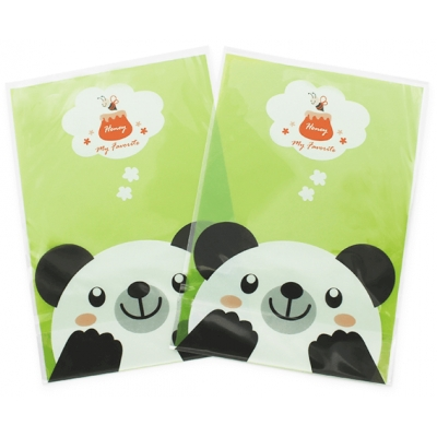Bolsa transparente estampada oso panda