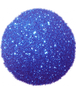 Purpurina azul electrico