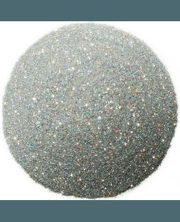Purpurina plateada holografica