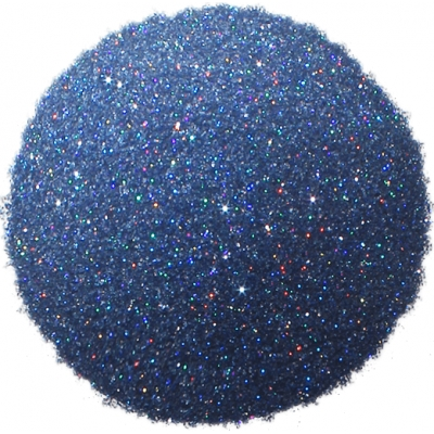 Purpurina azul holografica