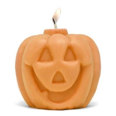 Molde para fazer velas abóbora de Halloween