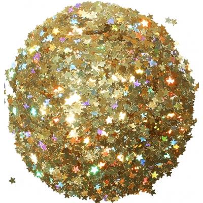 Estrelas douradas holograficas