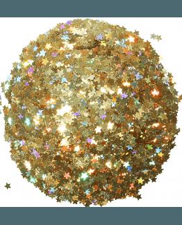 Estrellitas doradas holograficas