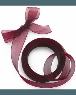 Cinta de organza, para manualidades e decoração, cor  vermelho