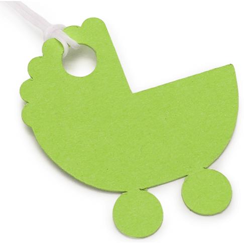 Etiquetas de Cartão Carrinho de Bebé
