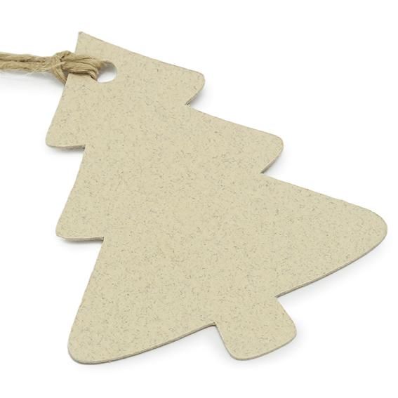 Etiquetas colgantes abeto navideño