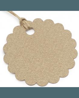 Etiquetas festoadas circulares de papelao