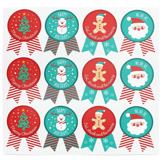 Pegatinas de navidad insignia