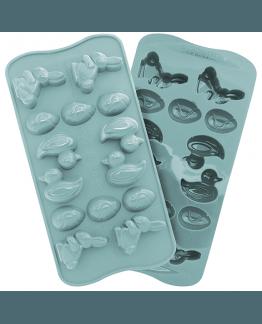 Easter, molde de silicona para 14 figuras de páscoa