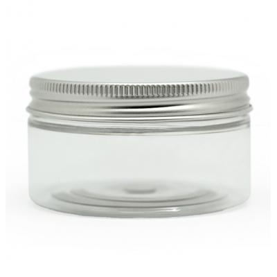 Tarro transparente 100 ml tapa de aluminio