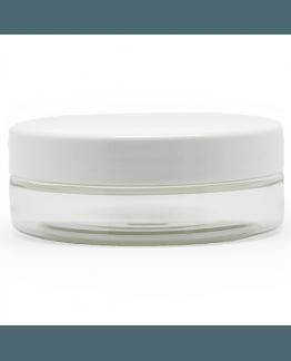 Tarros transparentes 50 ml tapa blanca