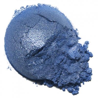 Mica azul cobalto