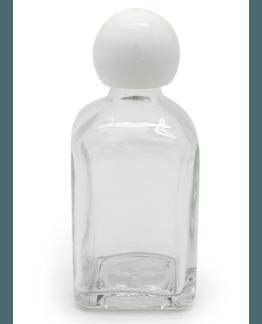Recipiente de vidro de 50 ml com tampa branca
