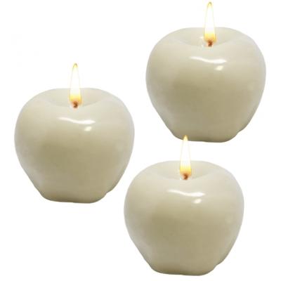 Molde de silicone 3 maçãs 3D.