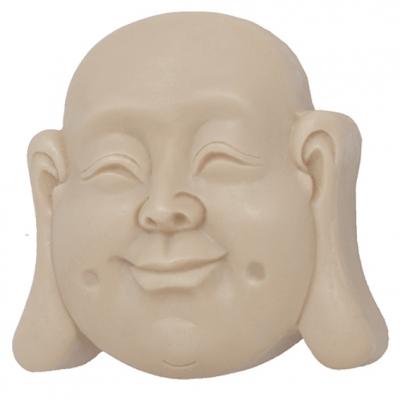 Molde pastilla jabón Buda Feliz con contorno