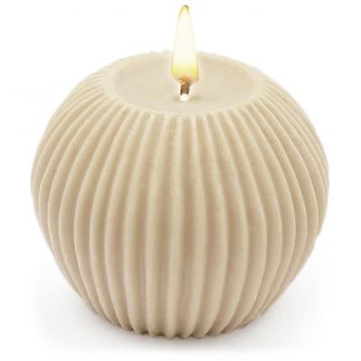 Molde para velas decorativas DIY, Esfera con Rayas Verticales.