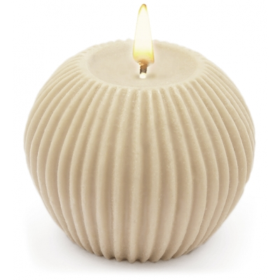 Molde para velas decorativas, Esfera com Listas Verticais.