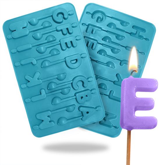 Molde de letras para velas