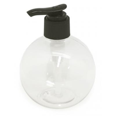 Botella pet sphere dosificador de caña negro