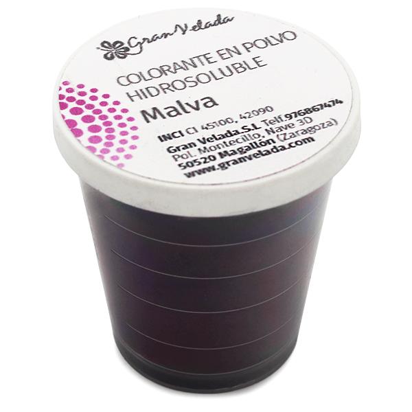 Colorante malva hidrosoluble en polvo