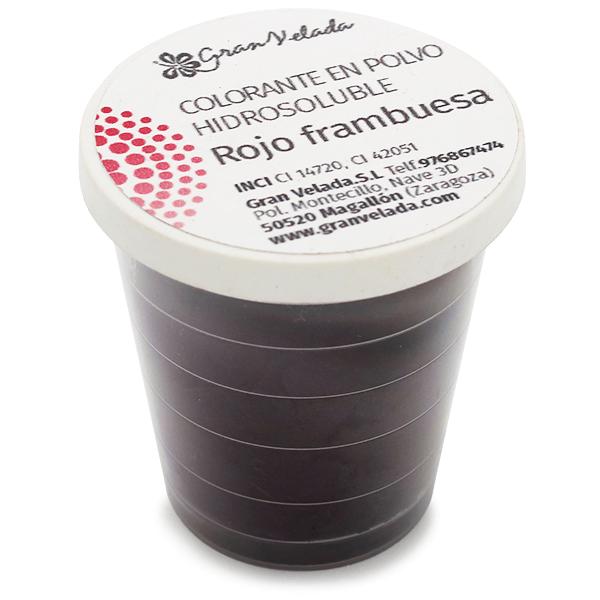 Colorante rojo frambuesa hidrosoluble en polvo