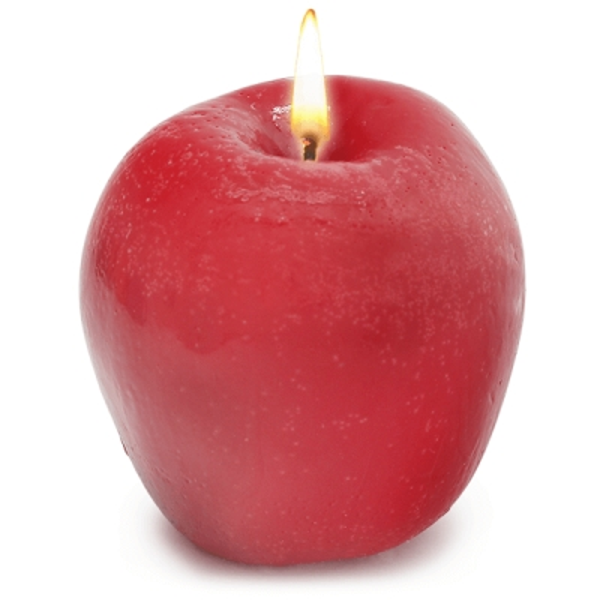 Molde de maçã para velas