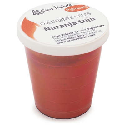 Corante para velas pigmento laranja telha