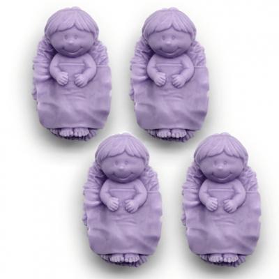 Molde Jabón Niño Jesús 4 bebés