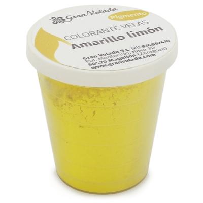 Colorante velas amarillo limon pigmento