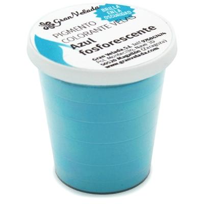 Colorante velas azul fosforescente (brilla en la oscuridad)