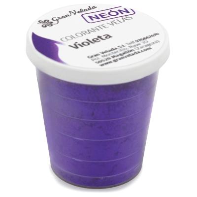 Colorante velas violeta neon pigmento