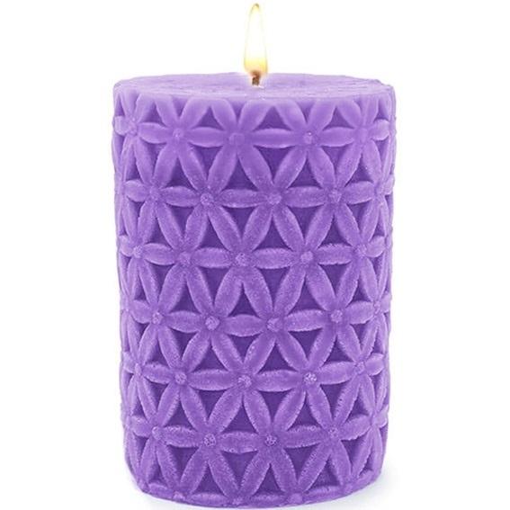 Formas para velas decorativas com flores