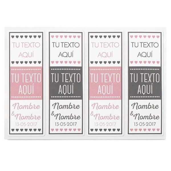 Etiquetas personalizadas para regalos de boda