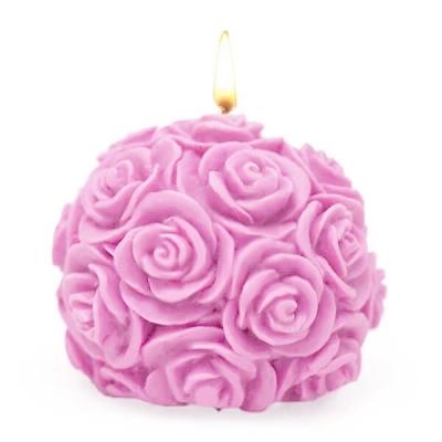 Molde bola de rosas pequena para velas