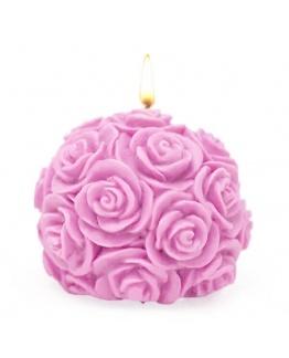 """Molde para fazer velas """"Bola de Rosas"""""""